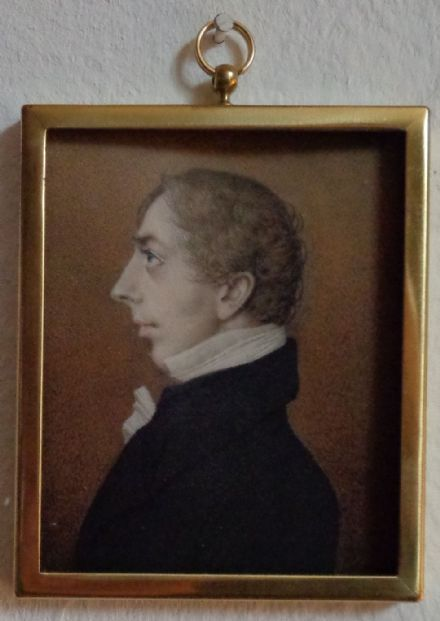 Antique Portrait Miniature Watercolour of Henry Hyde Rector of Wareham in Dorset by Thomas Gosse